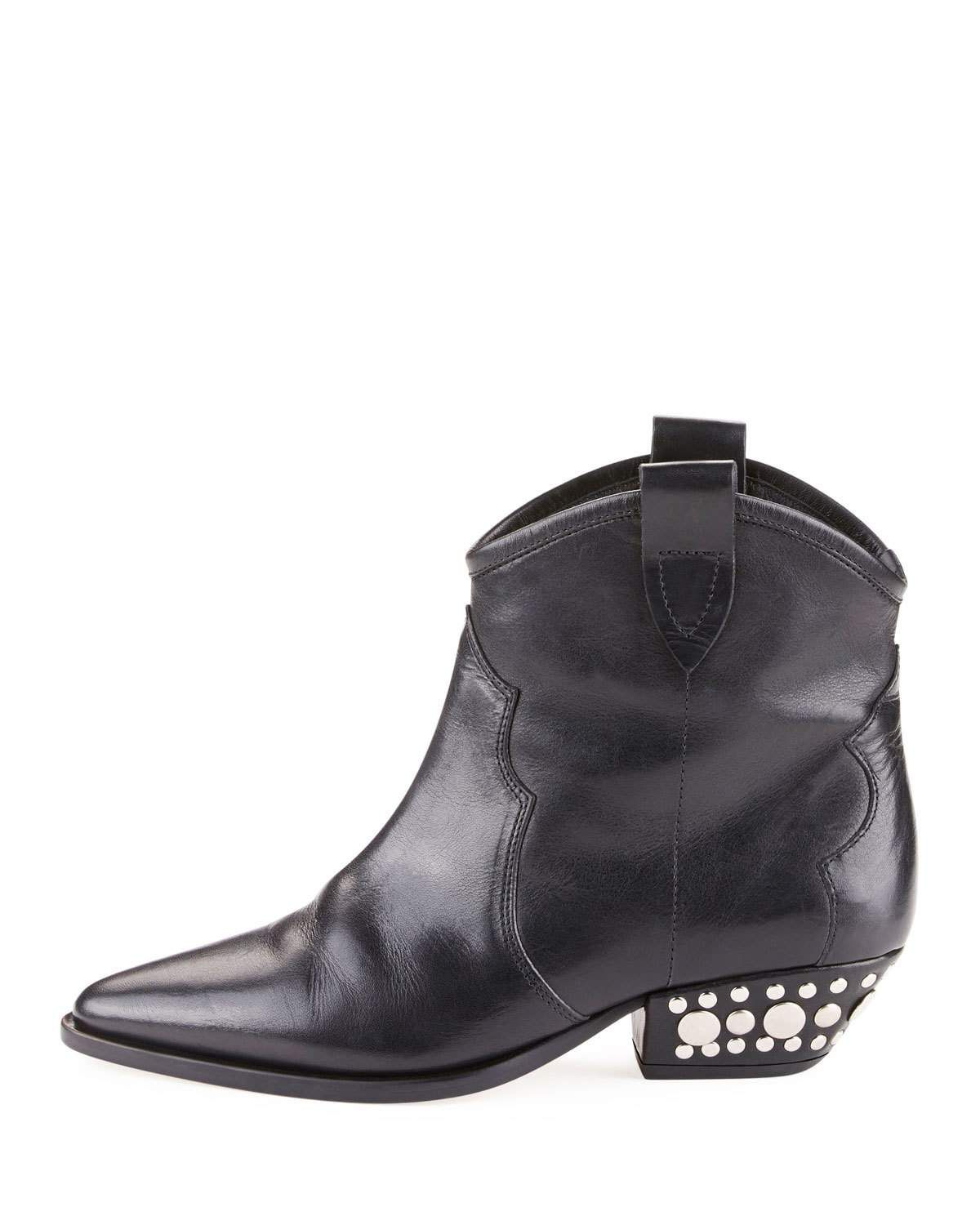 dc264981e9f Isabel Marant Dawyna Point-Toe Stud-Heel Western Bootie | Products ...