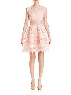 Alexis - Sage Crochet Fit-&-Flare Dress $575