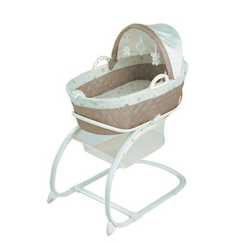 Babies R Us Keep Me Near Bassinet with Moses Basket - Cream/Taupe ...