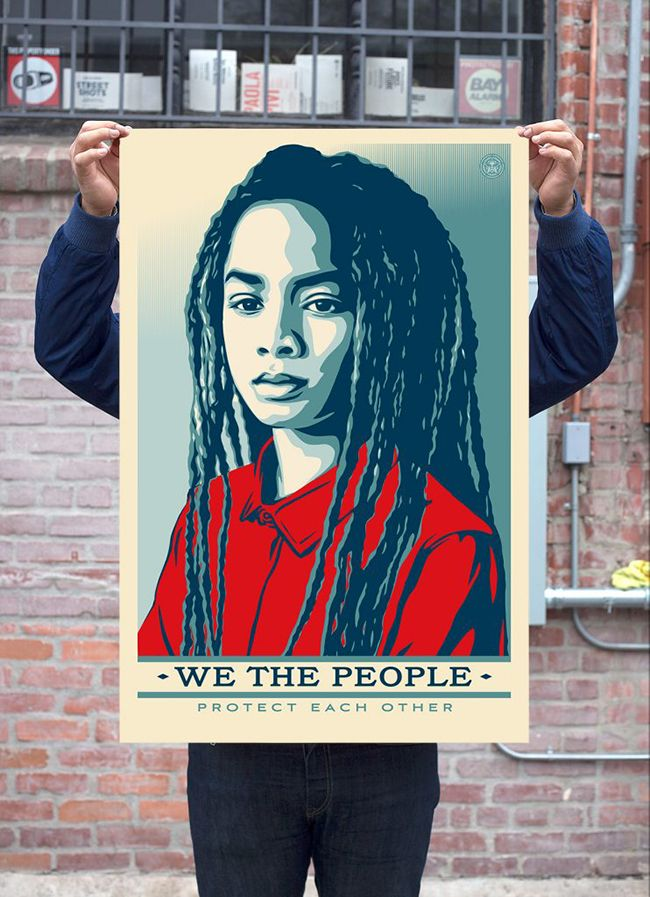 6b68ca0c00c Shepard Fairey Designs We The People Protect Each Other Inauguration  Posters