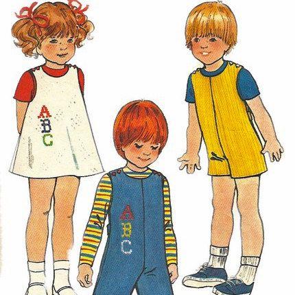 1970s Butterick 5732 Childs Jumperand Jumpsuit Pattern ABC Transfer ...