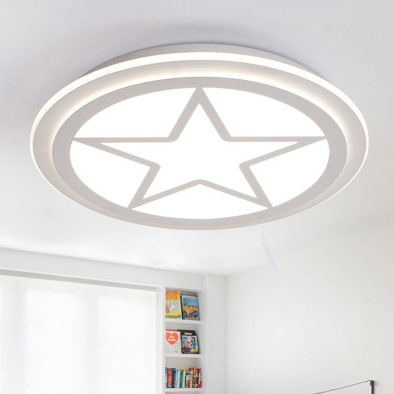 Modern Led Ceiling Lights for kids room American captains shield