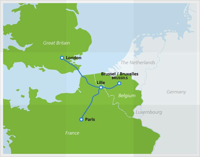 Eurostar High Speed Train Eurostar Train Map Europe Train