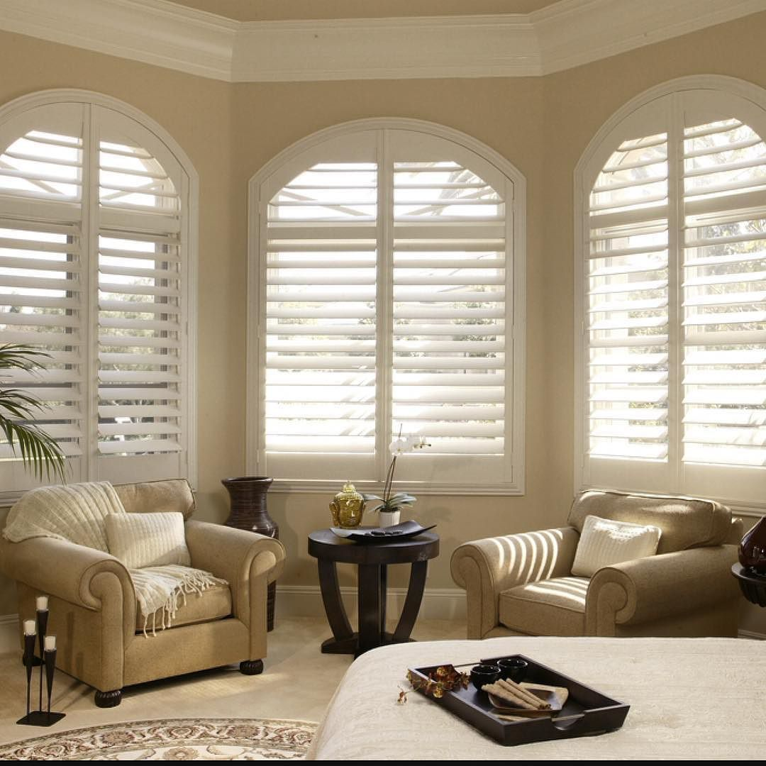 Window Treatments Interiordesign: Normandy Wood Shutters By Norman Add Warmth And Privacy
