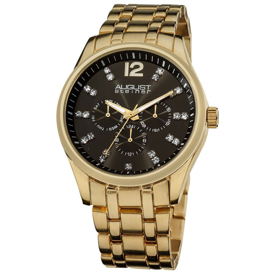Gold-tone Multi-Function Quartz Bracelet Watch