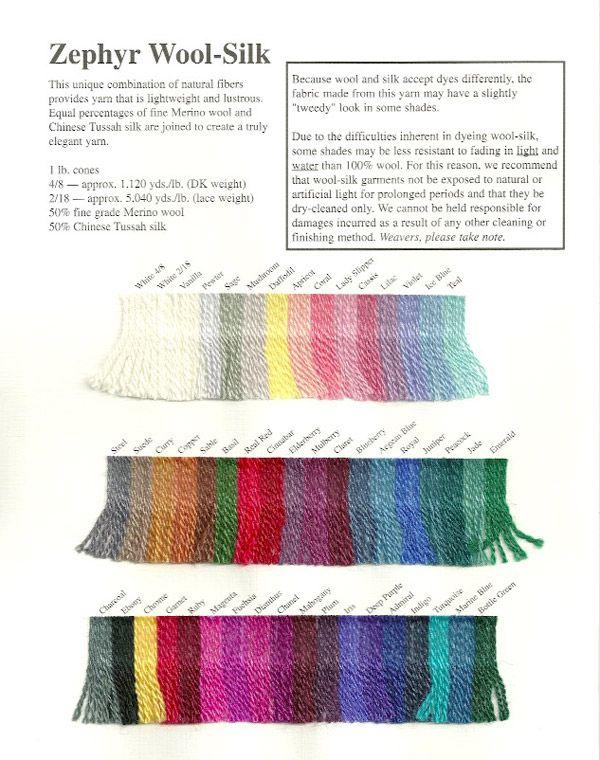 Jaggerspun Zephyr Wool-Silk Yarn   fonalak   Silk wool, Silk