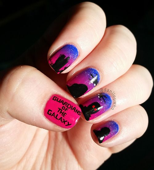 Guardians Of The Galaxy Nails By Tumblr User Danilouwho