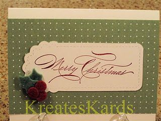 Elegant, yet simple Christmas card.