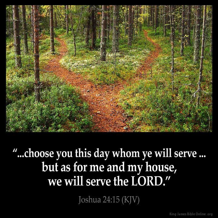 Image result for choose you this day whom you will serve kjv