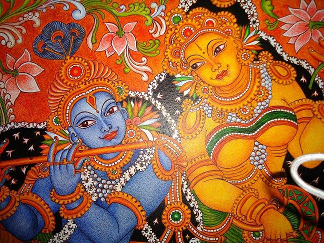 Mural paintings mural painting krishna radha for Mural painting designs