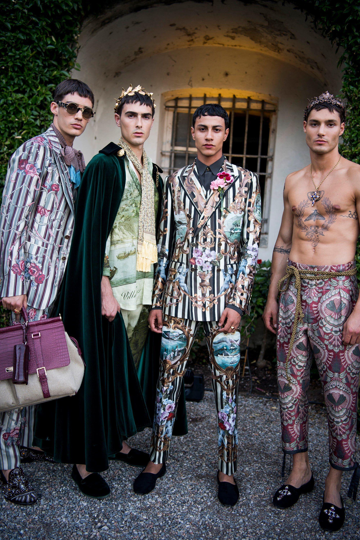 d67631e1e54 Male Pattern Boldness  Dolce   Gabbana s Alta Sartoria Ode to Villa Carlotta