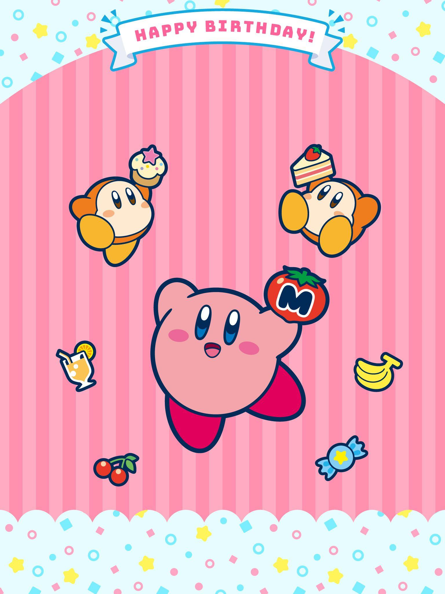 2018 happy birthday Kirby mobile phone wallpaper app