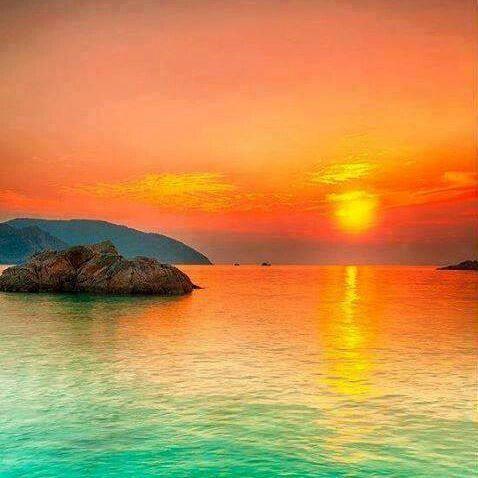 Sunset over the Sea, Con Dao, Vietnam