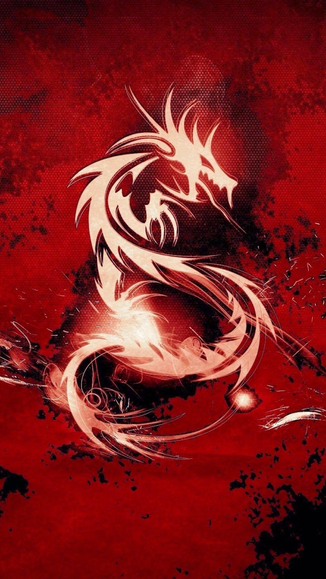 Galaxy Dragon iPhone Wallpaper