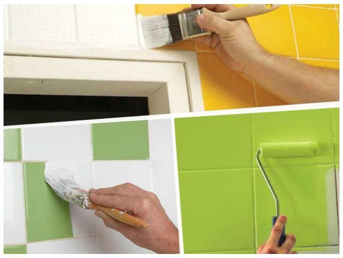 Pintar los azulejos de tu cocina o ba o puede dar un - Pintar azulejos de bano ...