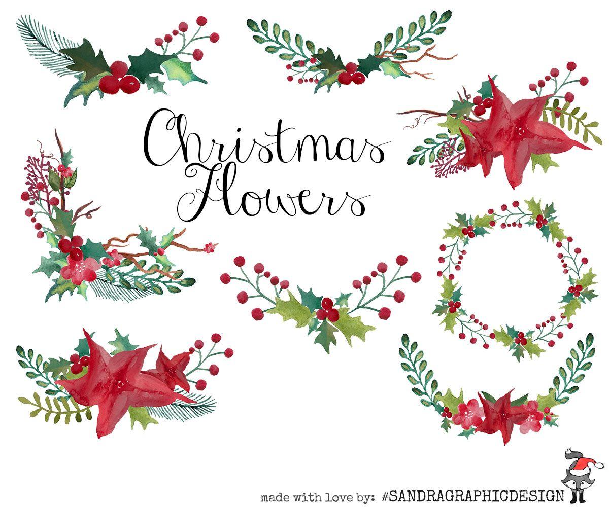 Christmas Wreaths Clip Art By Sandragraphicdesign On Creativemarket