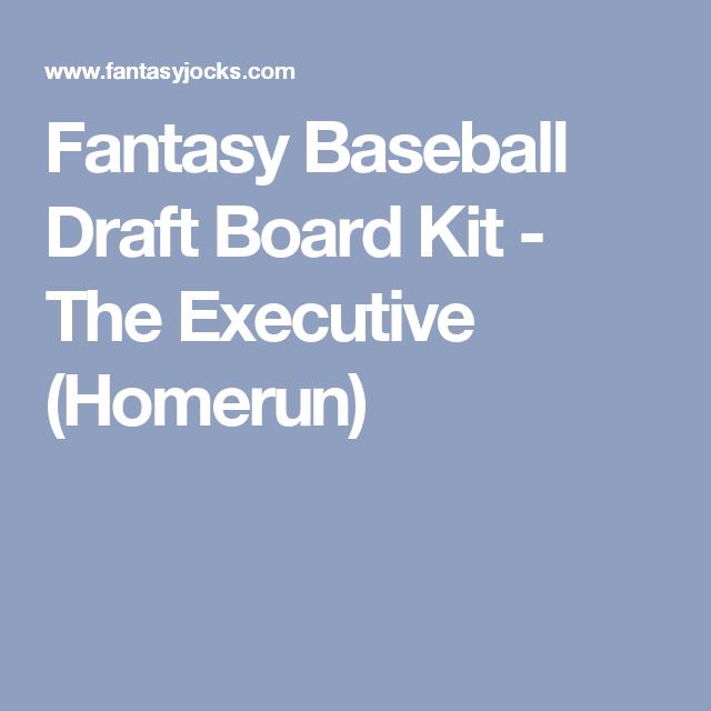 Fantasy Baseball Draft Board Executive Kit Fantasy Baseball Homerun Fantasy Draft Board