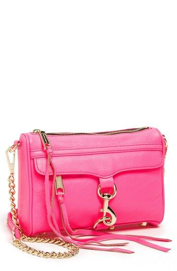 52d97ac8b2 Rebecca Minkoff  Mini M.A.C.  Shoulder Bag available at  Nordstrom in Neon  pink