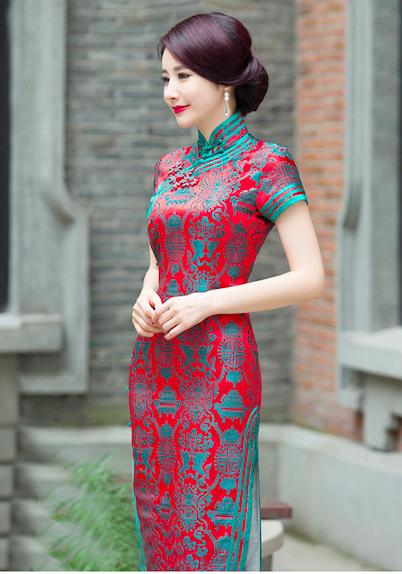 Mandarin Collar Double Fish Design Chinese Dress | Chinese Women ...