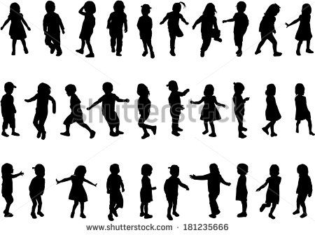 Little Girl Silhouette Stock Photos Images & Pictures