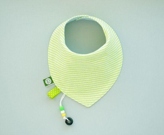 Bright Green Baby Bib Bandana Dribble Bib by pupaforkids on Etsy, $13.75