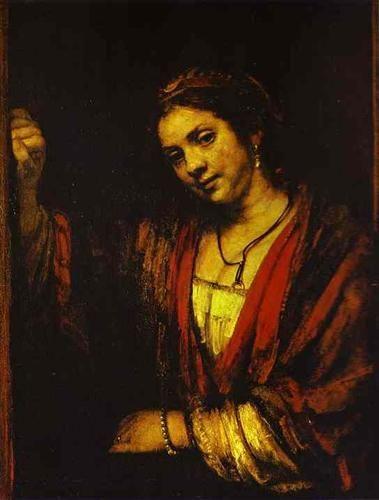 1656 Hendrickje en una puerta abierta