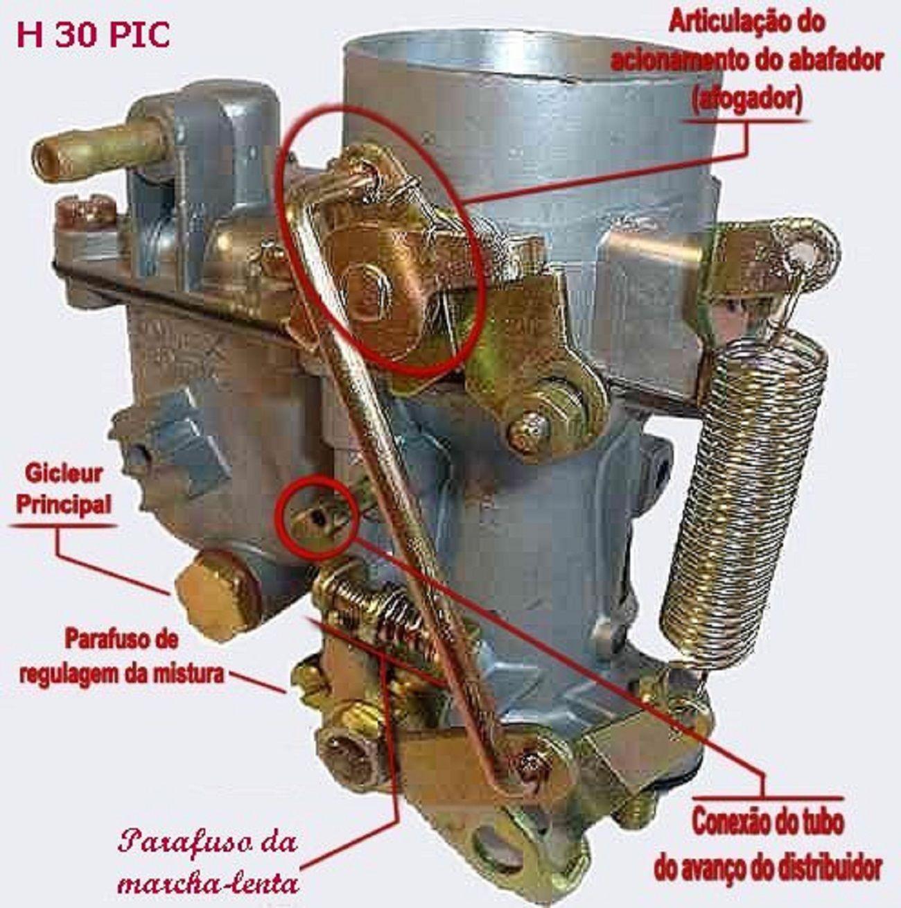 Carburador Solex H 30 Pic Pra Qualquer Motor Vw Acessorios Fusca Carro Fusca Carburador Fusca