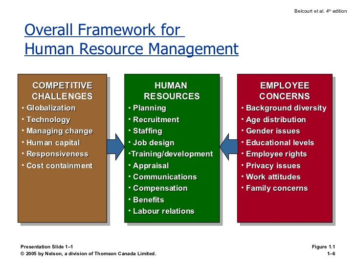 Overall Framework For Human Resource Management Presentation Slide