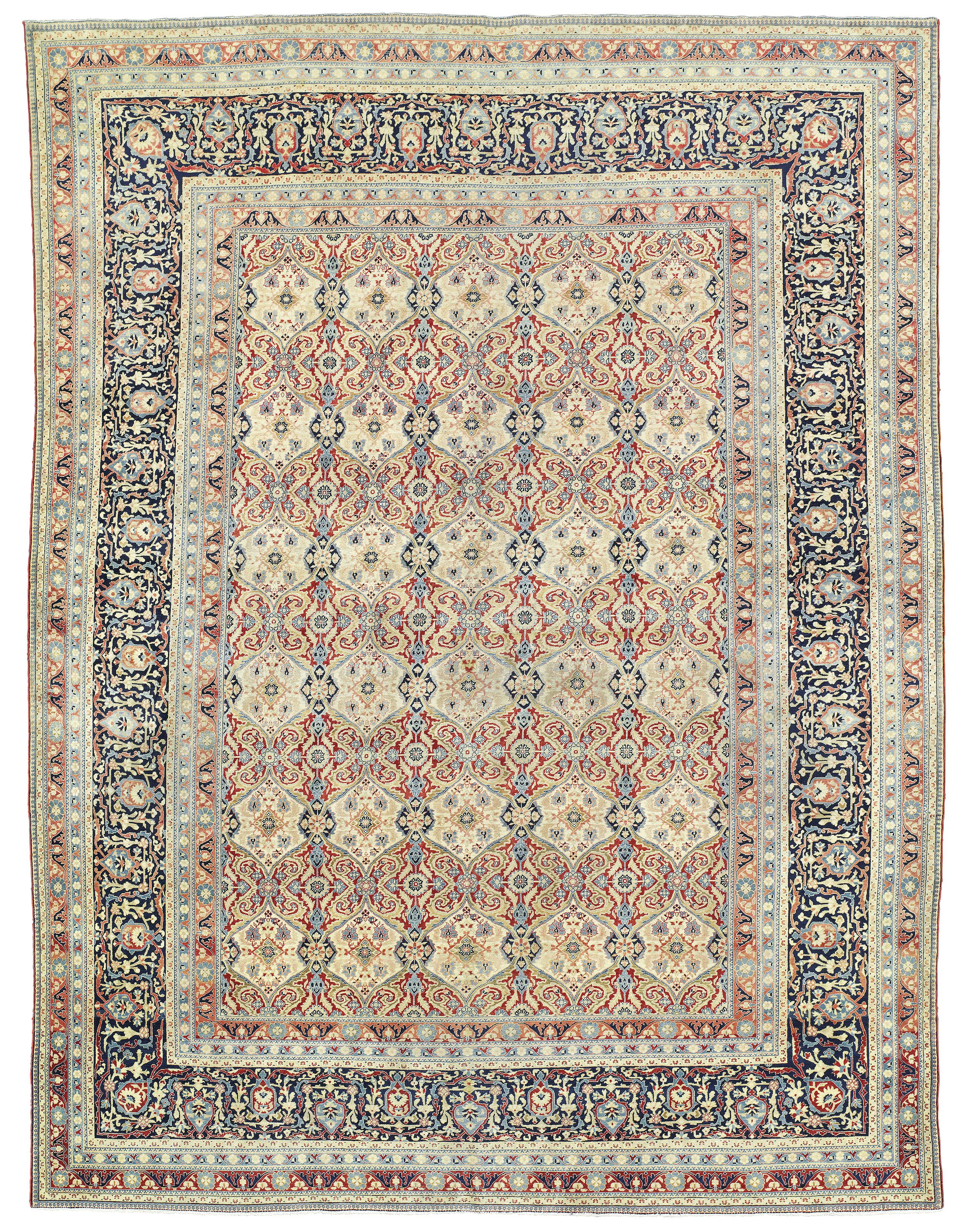 A Kashan Mohtasham Carpet Central Persia Circa 1900 10ft 9in X 8ft 4in 328cm X 255cm Christie S Rugs On Carpet Persian Rug Carpet