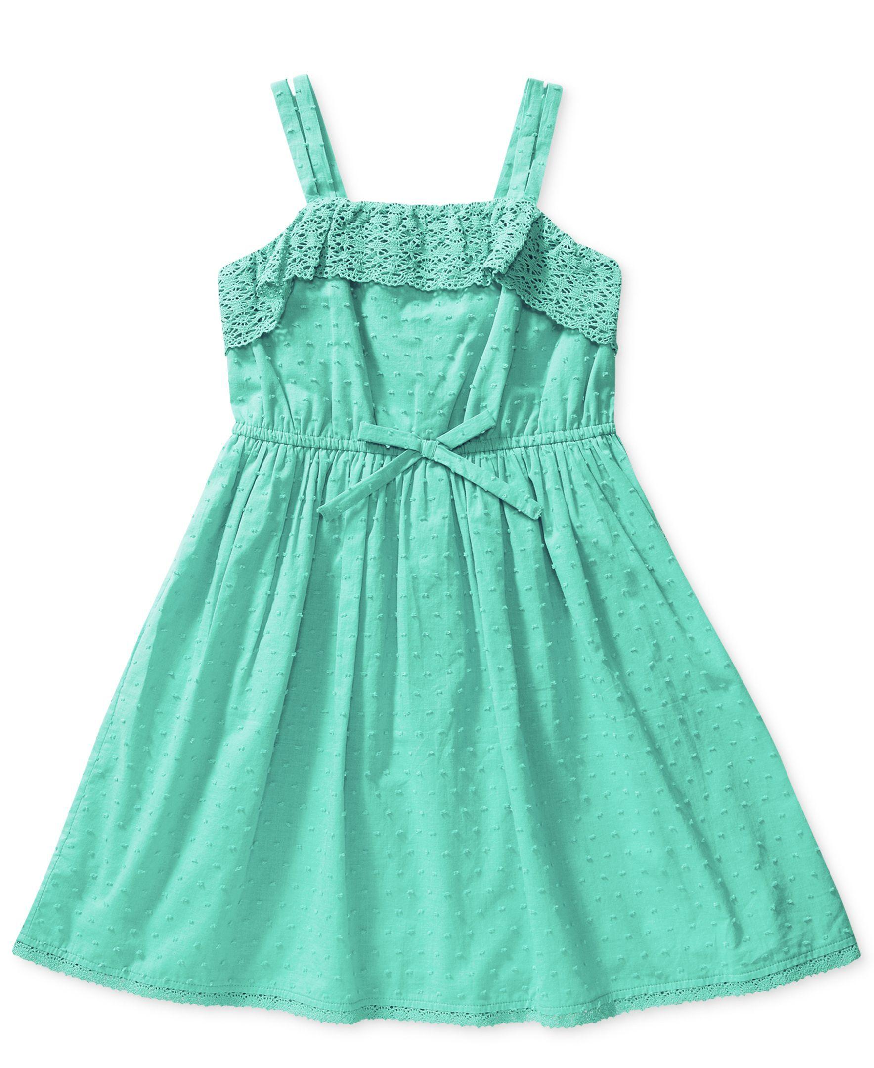 Bloome Girls' Crochet-Trim Dress