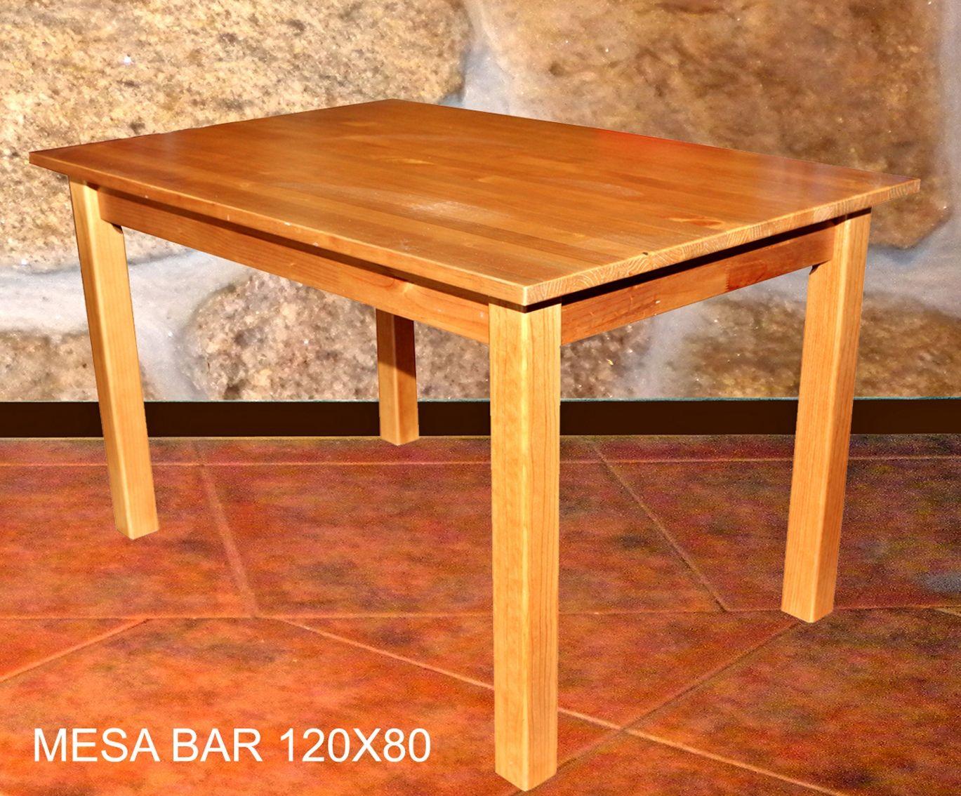 Mesa Bar 90×90 Mobiliario De Madera Pinterest Mesas Bar Bar  # Muebles Cumelen