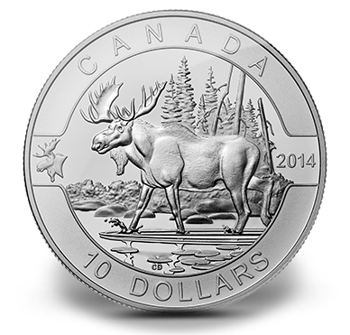 1 2 Oz Fine Silver Coin The Moose 2014 Coin Collecting Old Coins Coins