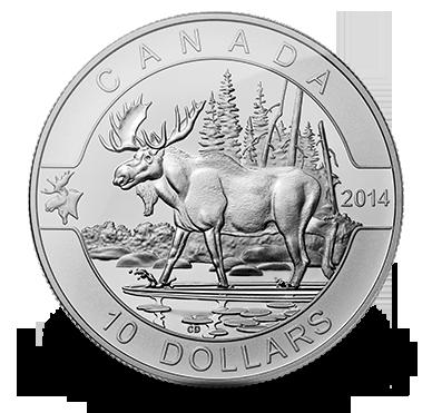 1 2 Oz Fine Silver Coin The Moose 2014 Coin Collecting Old Coins Coins