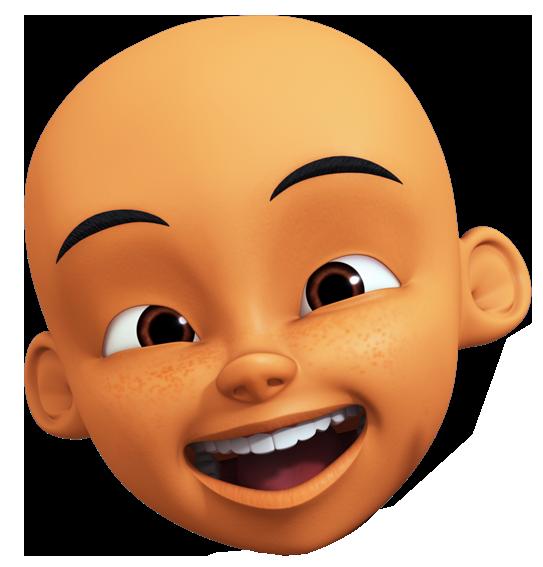 gambar kepala karakter upin ipin format png menggambar kepala animasi 3d gambar kepala karakter upin ipin format png