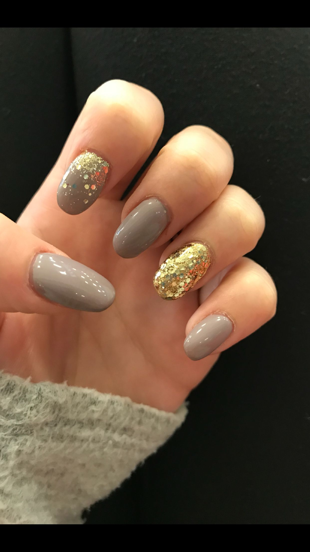Glitter acrylic nails with fade | Fun Nail Designs | Pinterest ...