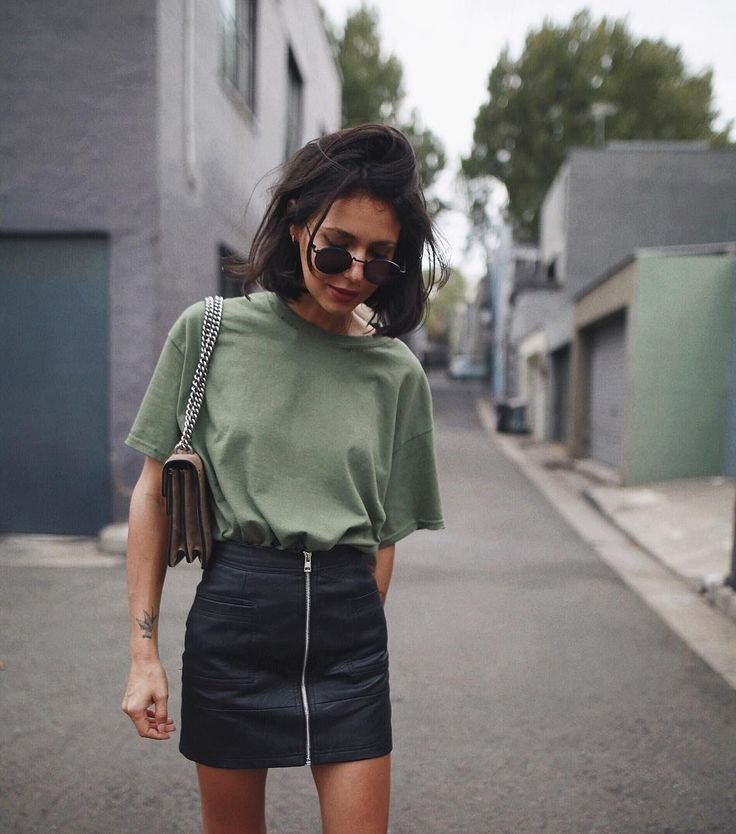 "Photo of Petra on Instagram: ""Wearing skirt by #topshop ,sunnies by @komono and tee is @asos #vintage #ootd"""