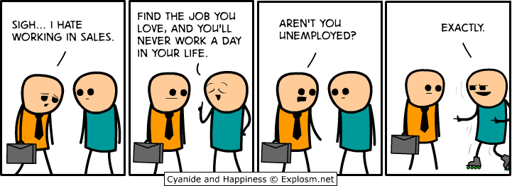 Cyanide & Happiness talk about #sales