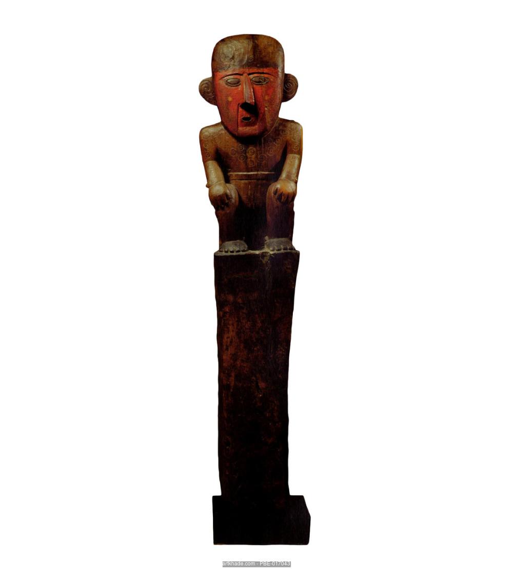 A Chimu Post Peru Statue Ancient Art Buddha Statue