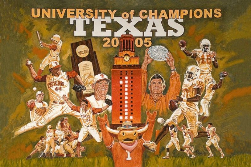 In 2005, the Longhorns Baseball and Football Teams won