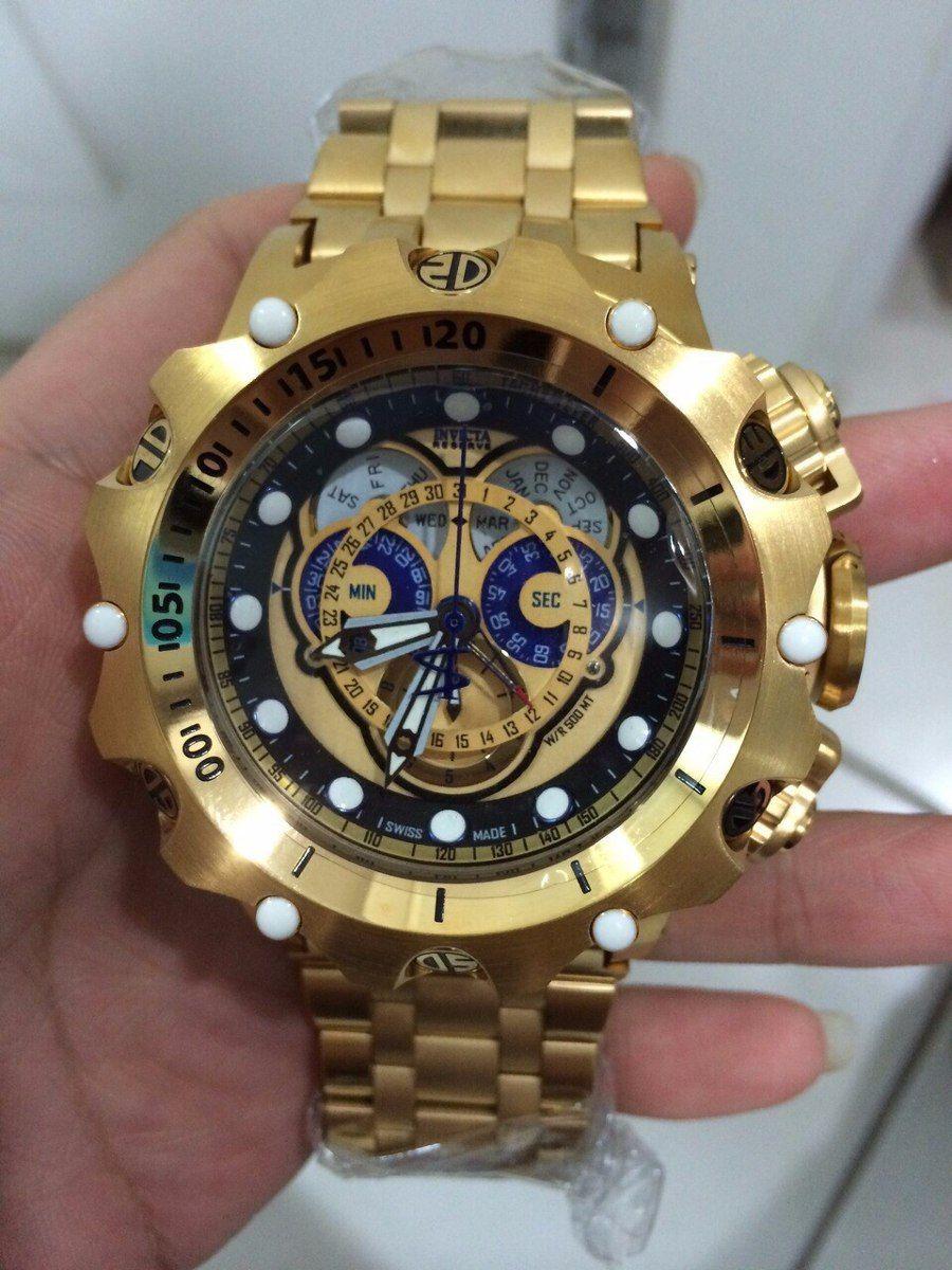 5438f278eb0 Invicta Venom gold Relogio brand