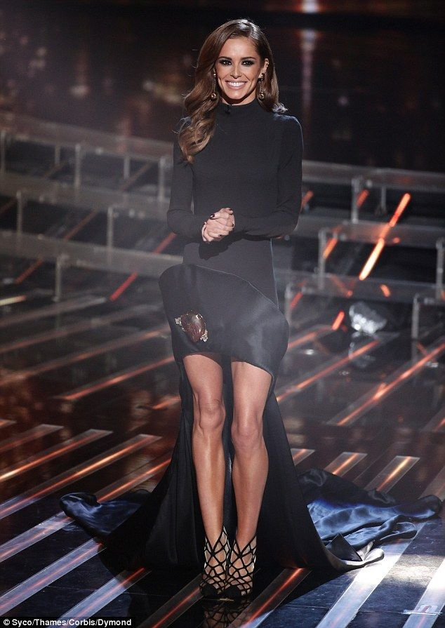 Gothic glamour: Cheryl Fernandez-Versini paraded her enviable pins on Saturday at X Factor...