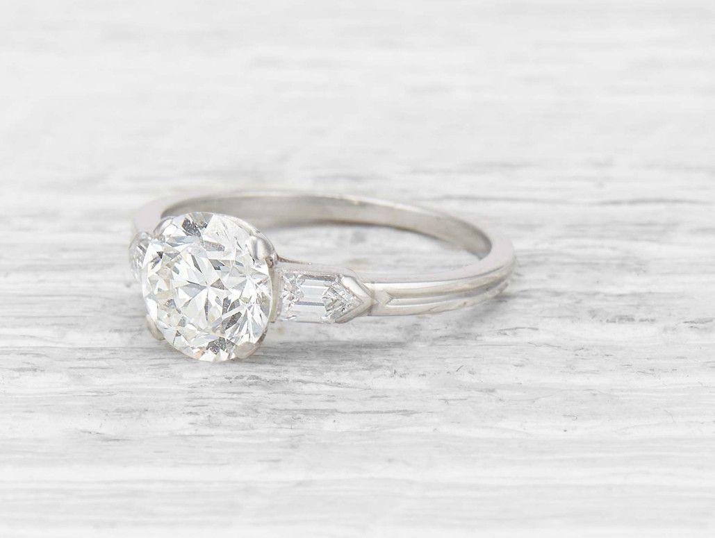 c495c1bbd8e71 1.86 Carat Art Deco Tiffany & Co Diamond Engagement Ring | Diamonds ...
