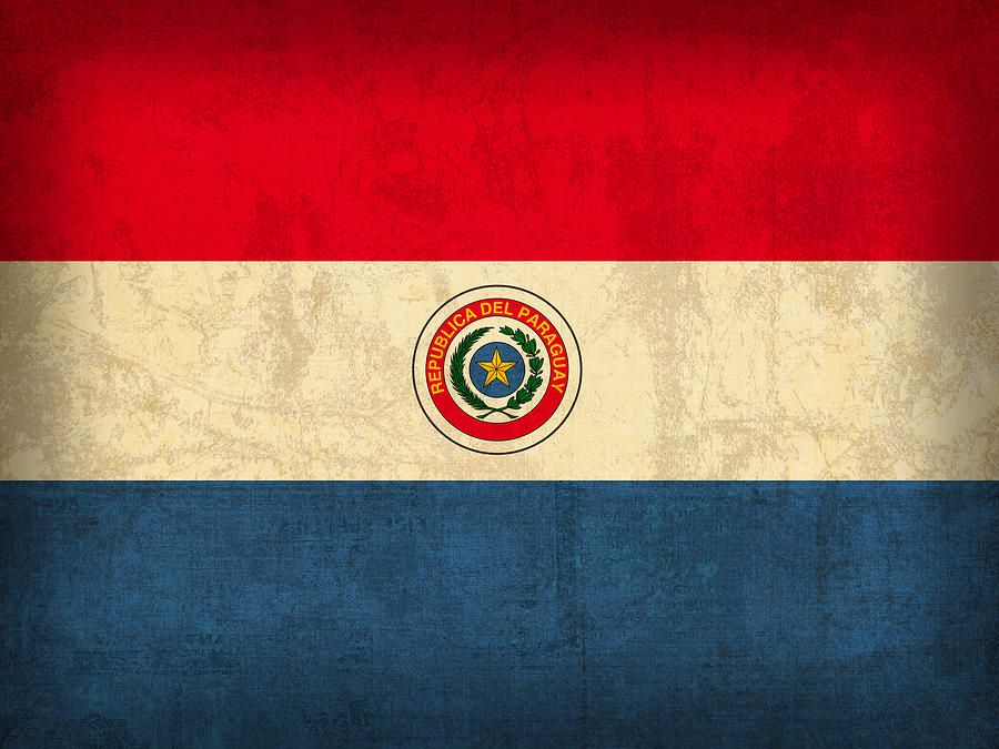 Paraguay Flag Vintage Distressed Finish Paraguay Disenos Para