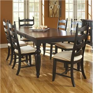 Custom Dining Customizable Rectangular Table Set with 6 Chairs by
