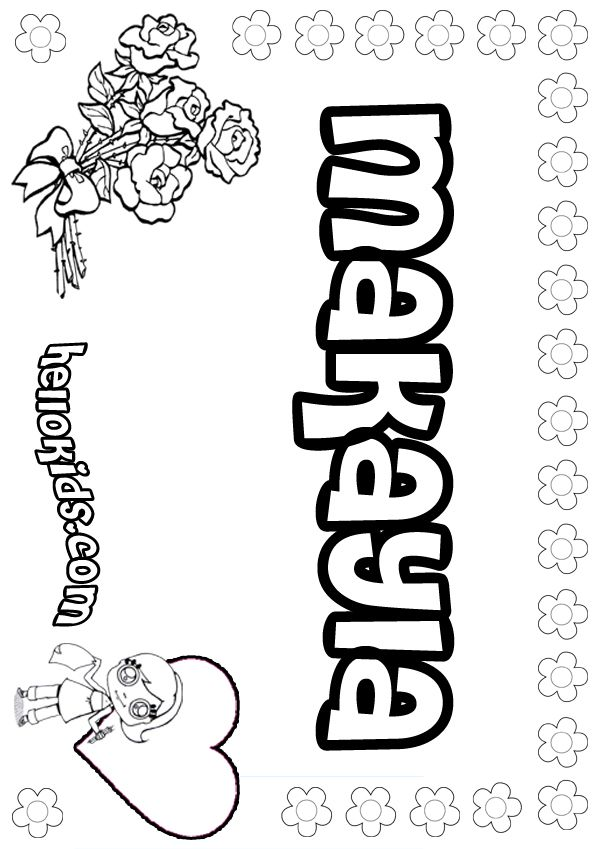 makayla coloring pages | Makayla : girls name coloring pages ...