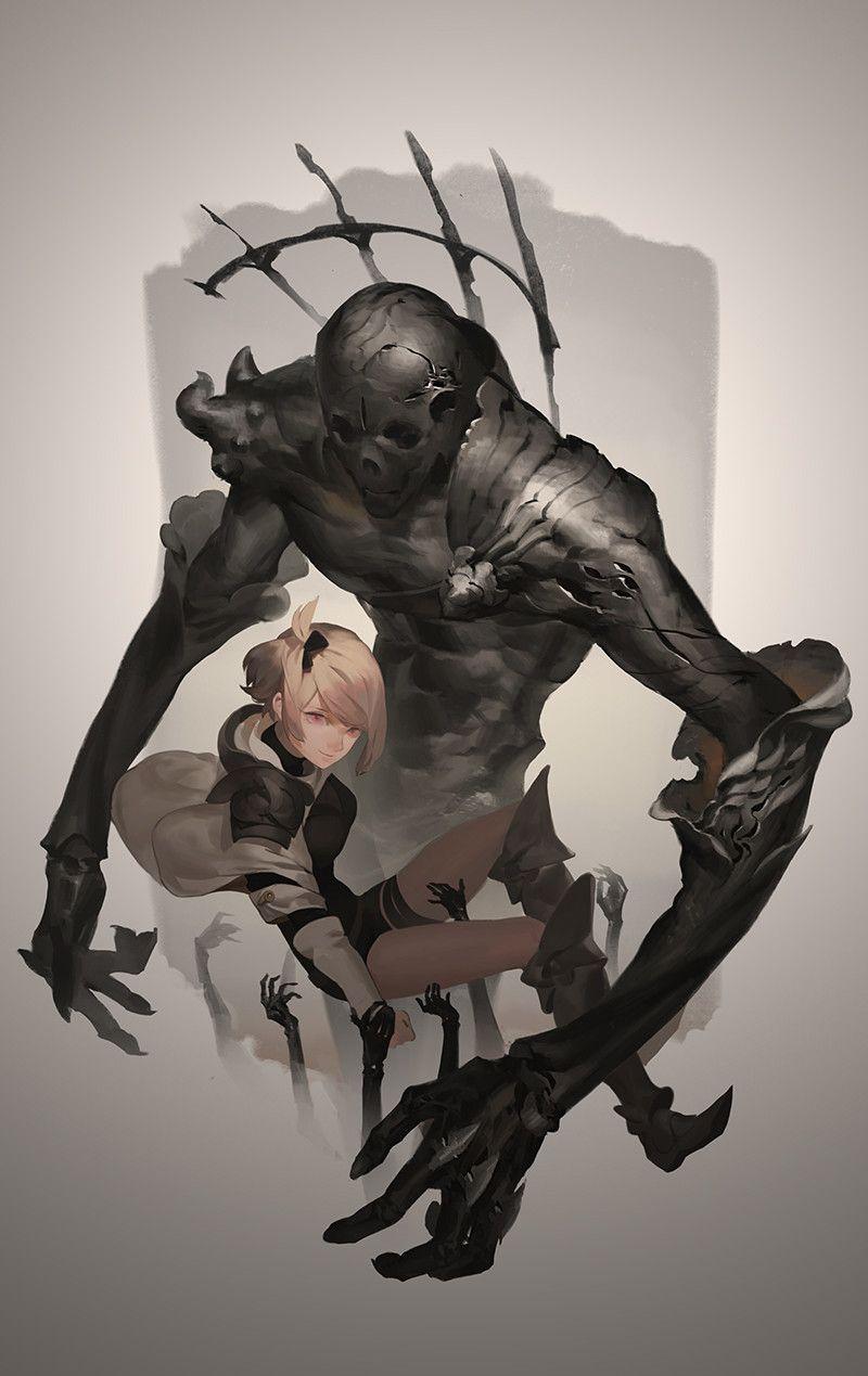 Dead summoned, Geoffrey Chan on ArtStation at https://www.artstation.com/artwork/m6gw8