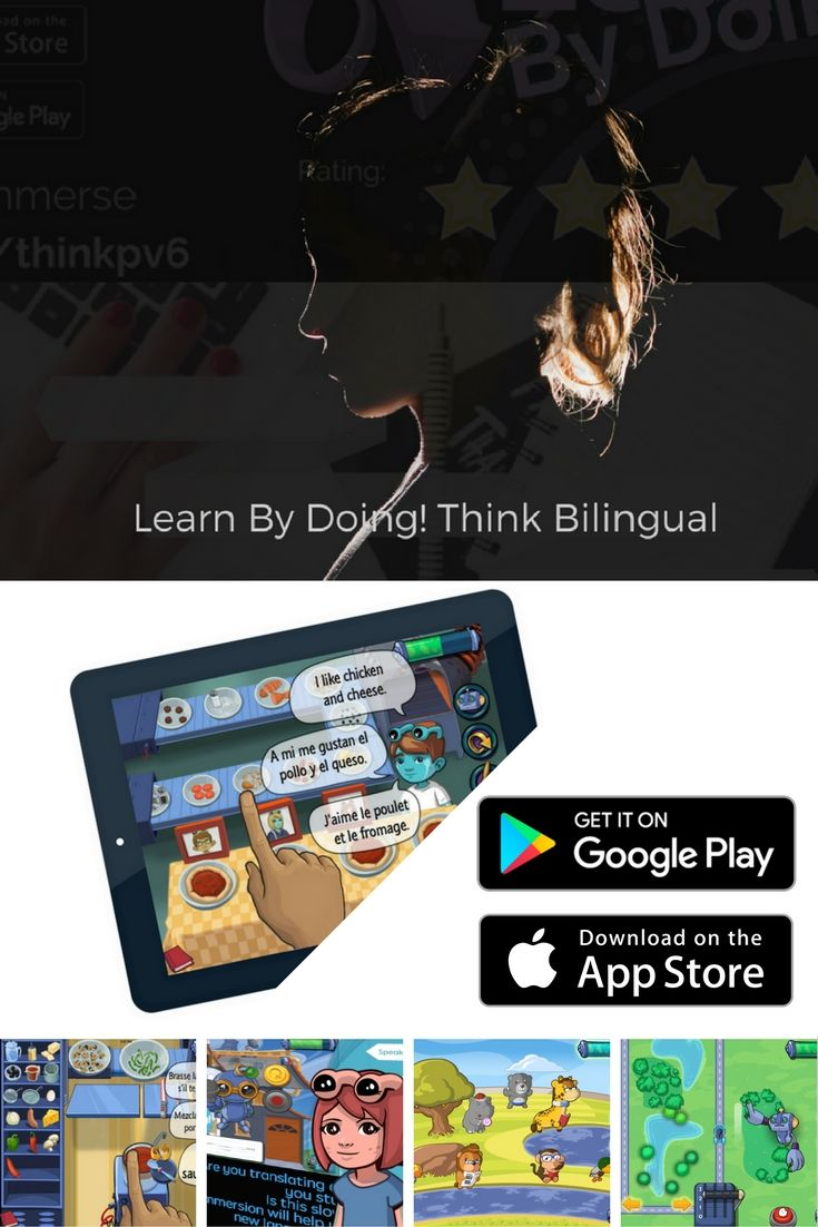 Apps for kids for learning French, Spanish and English on