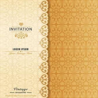 Elegante do convite ornamental
