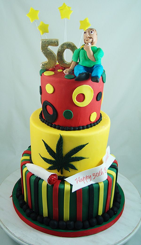 Bob Marley Themed Birthday Party Cake Noveltycakes Our