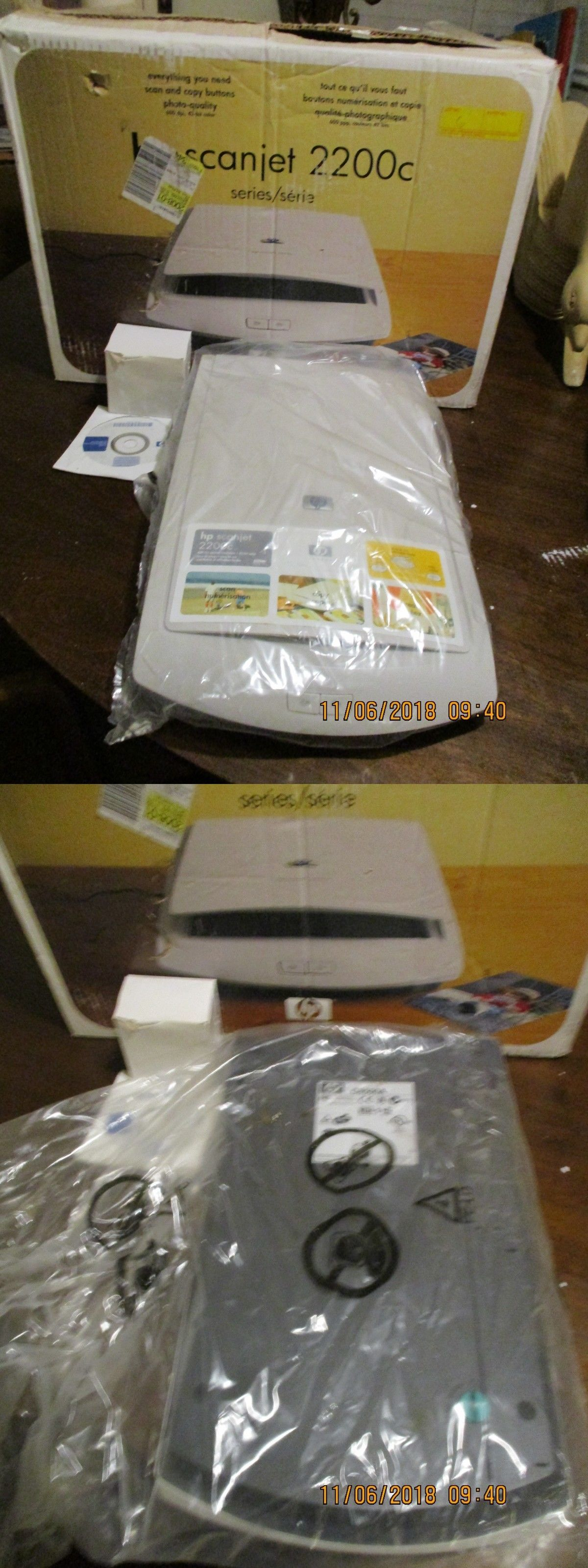 Scanners 11205 Hp Scanjet 2200C Color Flatbed Scanner